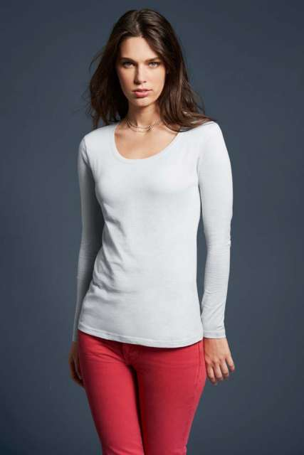 WOMEN'S FEATHERWEIGHT LONG SLEEVE SCOOP TEE