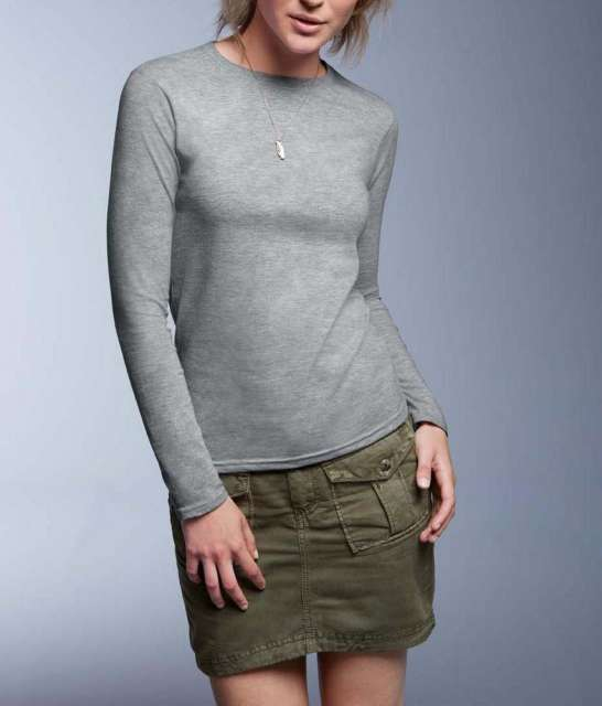 WOMEN'S FASHION BASIC FITTED LONG SLEEVE TEE