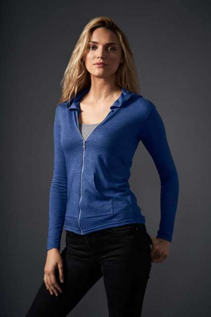 WOMEN'S TRI-BLEND FULL-ZIP HOODED JACKET