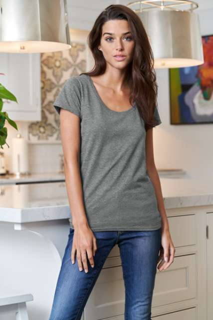 SOFTSTYLE<SUP>®</SUP> LADIES' DEEP SCOOP T-SHIRT