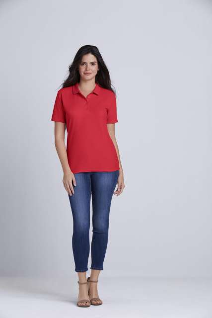 SOFTSTYLE<SUP>®</SUP> LADIES' DOUBLE PIQUÉ POLO