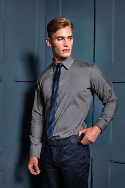 MEN'S LONG SLEEVE FITTED POPLIN SHIRT
