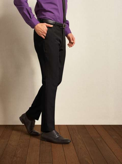 MEN'S SLIM FIT POLYESTER TROUSERS