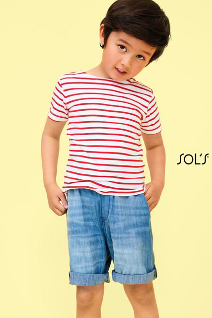 MILES KIDS - ROUND NECK STRIPED T-SHIRT