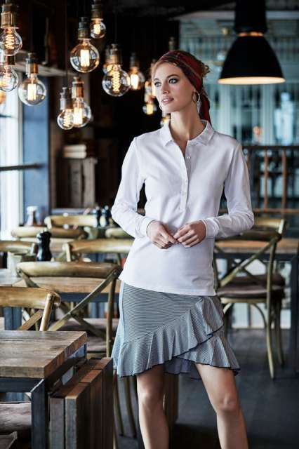 LADIE'S LUXURY STRETCH LONG SLEEVE POLO