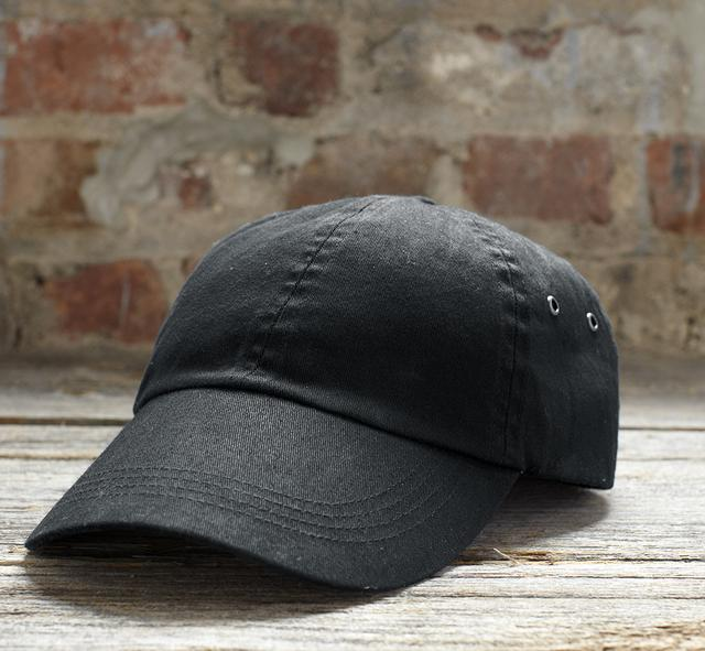 solid low-profile twill cap 1.