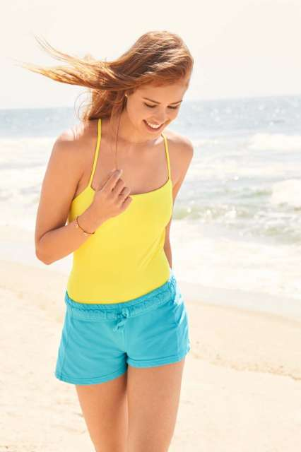 ladies' french terry shorts 1.