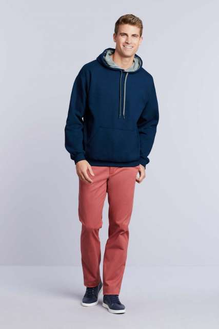 heavy blend™ adult contrast hooded sweatshirt 1.