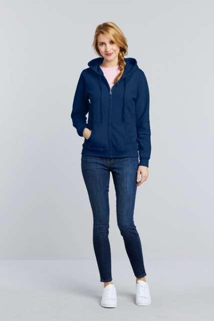 heavy blend™ ladies' full zip hooded sweatshirt 1.