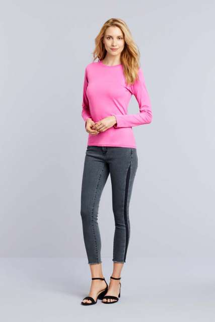 softstyle® ladies' long sleeve t-shirt 1.