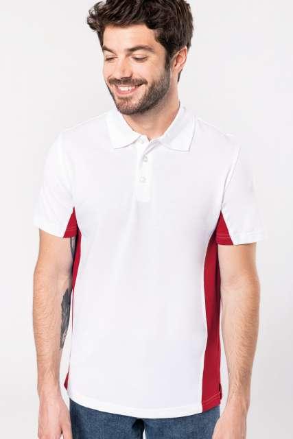 flag - short-sleeved two-tone polo shirt 1.