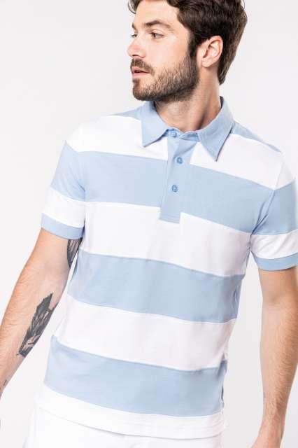 ray - short-sleeved striped polo shirt 1.