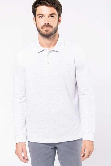 men's long-sleeved polo shirt 1.