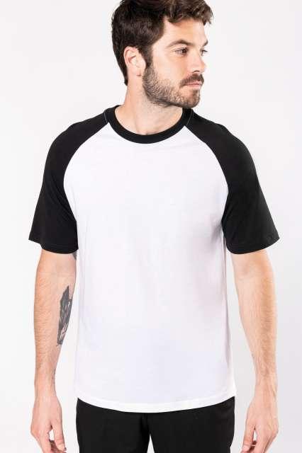 baseball - short-sleeved two-tone t-shirt 1.