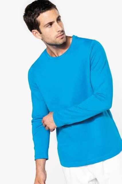 men's long-sleeved crew neck t-shirt 1.