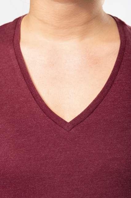 ladies' organic cotton v-neck t-shirt 1.