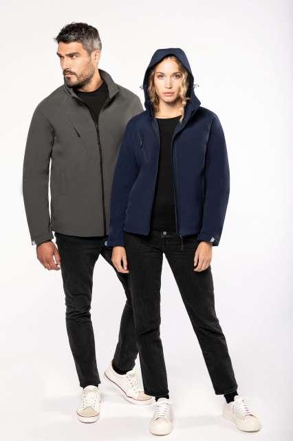 men's detachable hooded softshell jacket 1.