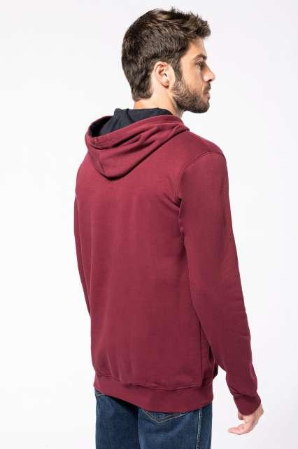 men's contrast hooded sweatshirt 1.