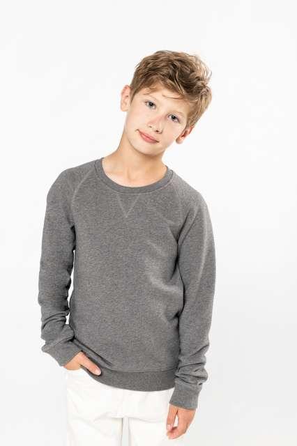 kids' organic raglan sleeve sweatshirt 1.