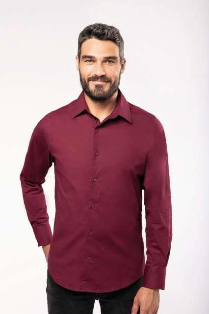 long-sleeved cotton/elastane shirt 1.