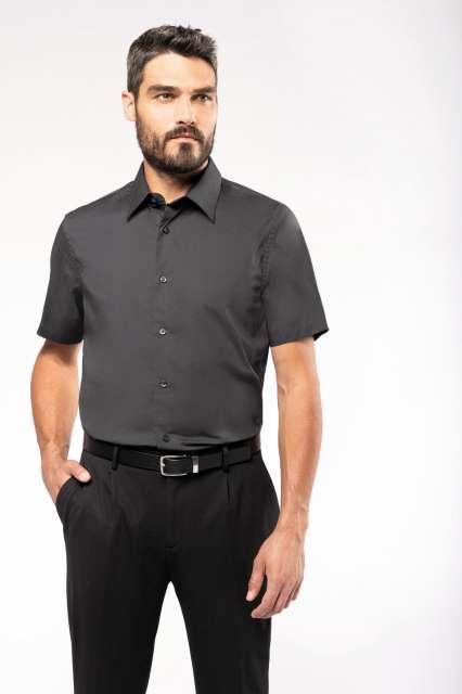 short-sleeved cotton/elastane shirt 1.