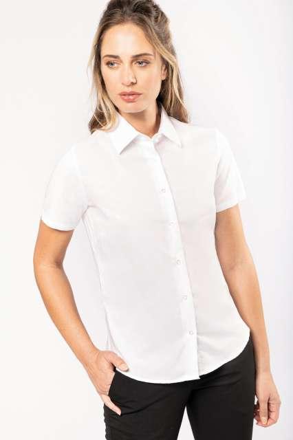 ladies' short-sleeved oxford shirt 1.