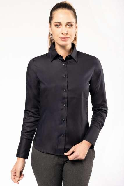 ladies' long-sleeved non-iron shirt 1.