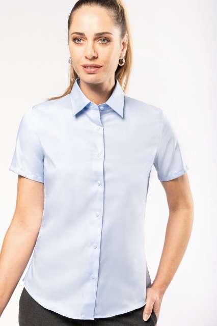 ladies' short-sleeved non-iron shirt 1.