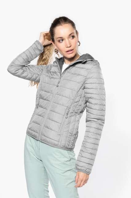 ladies' lightweight hooded padded jacket 1.