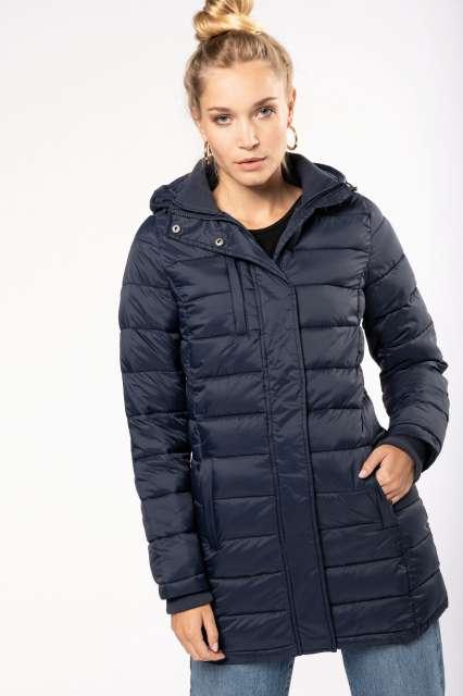 ladies' lightweight hooded padded parka 1.
