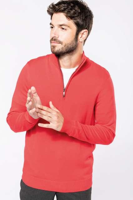 men's zip neck jumper 1.