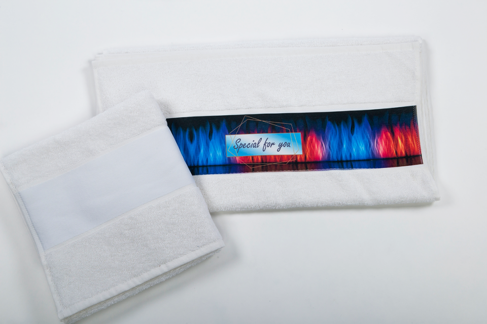olima towel with sublimation bordure 1.