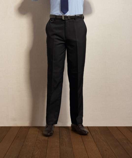 men's flat front hospitality trouser 1.