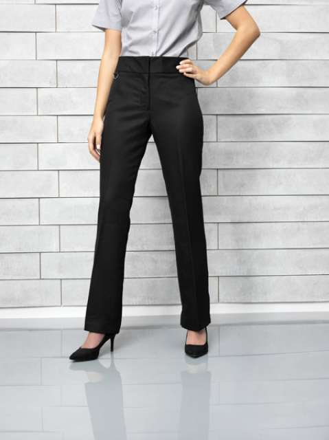 extra long ladies flat front hospitality trouser 1.
