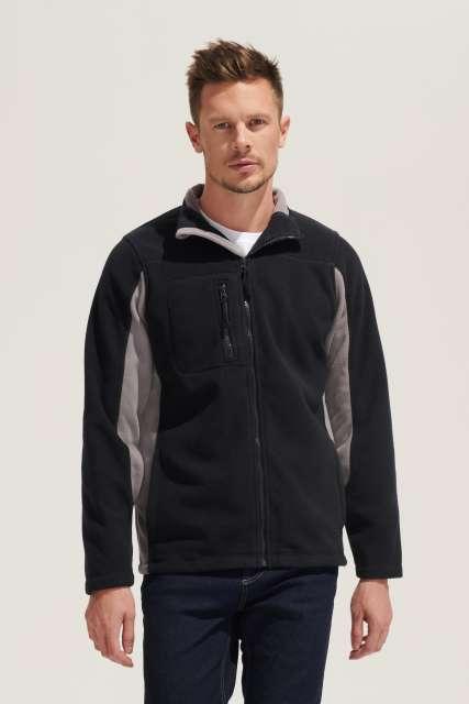 nordic - men's two-colour zipped fleece jacket 1.