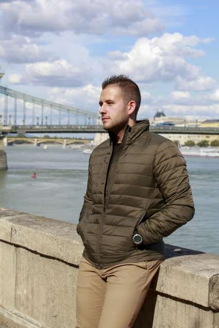 men's padded urban jacket 1.
